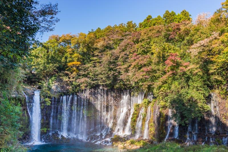 Shiraitodaling, a-waterval van Fujinomiya, Japan stock foto's