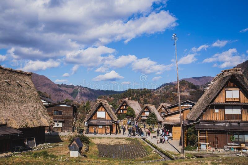 Shirakawa идет стоковое изображение
