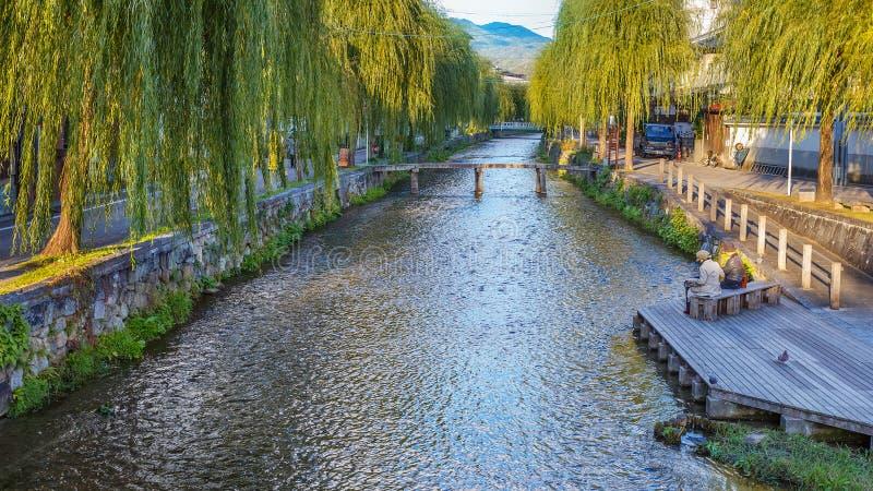 Shirakawa canal in Kyoto royalty free stock images