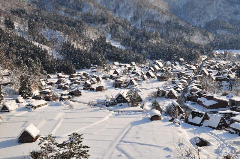 Shirakawa-ga dorp royalty-vrije stock foto's