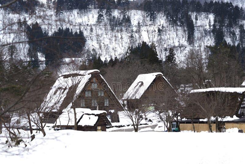 Shirakawa-gehen Dorf stockfotografie