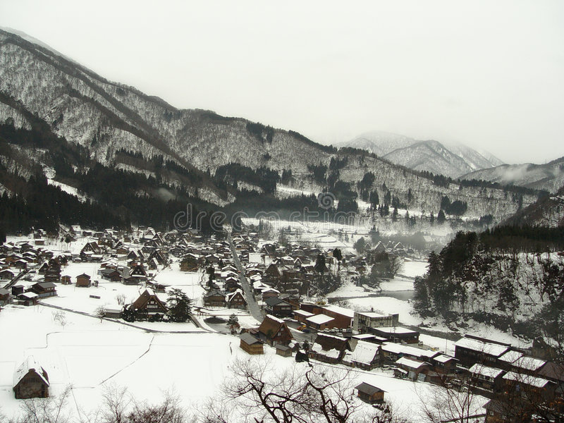 Download Shirakawa-go stock photo. Image of gasshozukuri, cold - 2880070