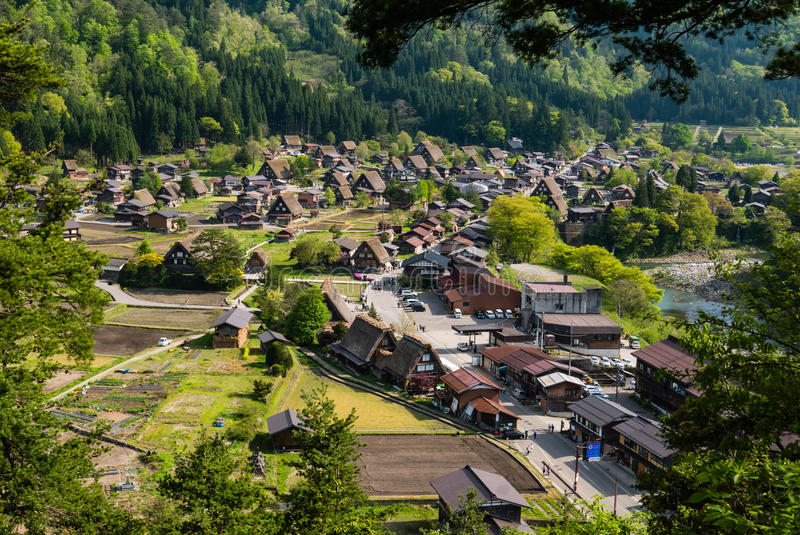 Shirakawa-go. Japan - May 2, 2016: Historical village of .  is one of Japan's UNESCO World Heritage Sites located in Gifu Prefecture, Japan stock photography