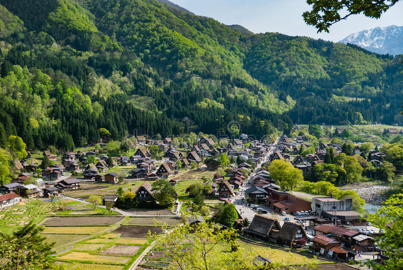 Shirakawa-go. Japan - May 2, 2016: Historical village of .  is one of Japan's UNESCO World Heritage Sites located in Gifu Prefecture, Japan stock photos