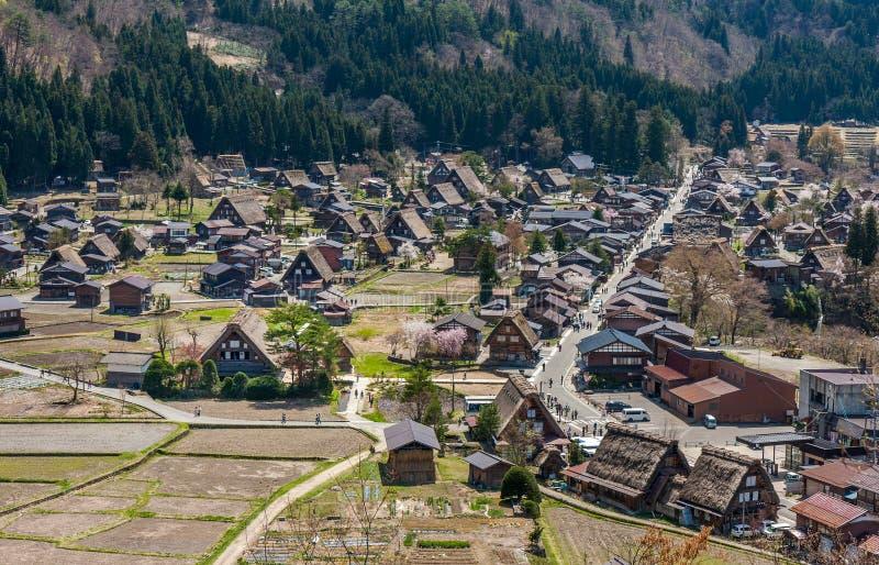 Shirakawa-go traditional Japanese town, Japan stock photo