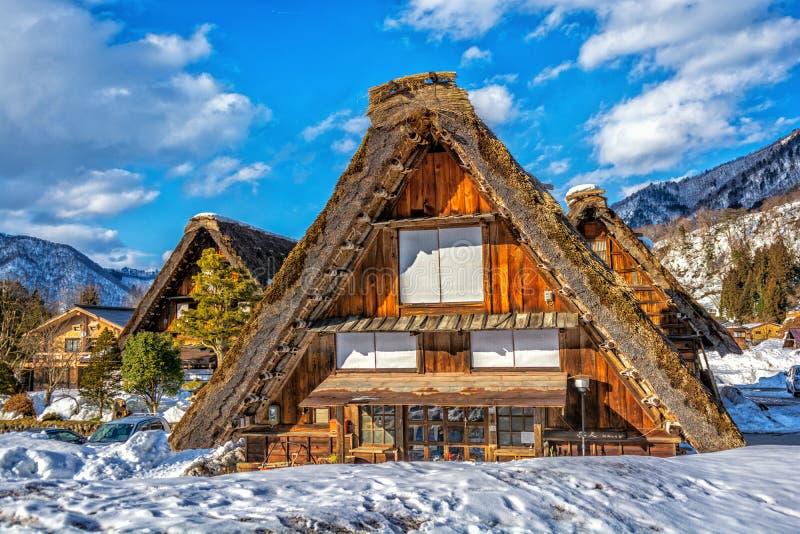 Shirakawa-go UNESCO national heritage village royalty free stock photo
