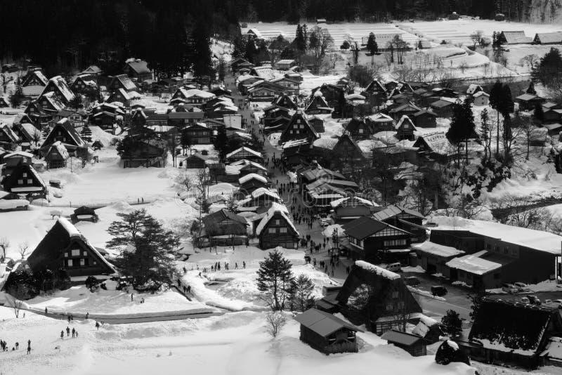 Shirakawa-go UNESCO national heritage village stock images