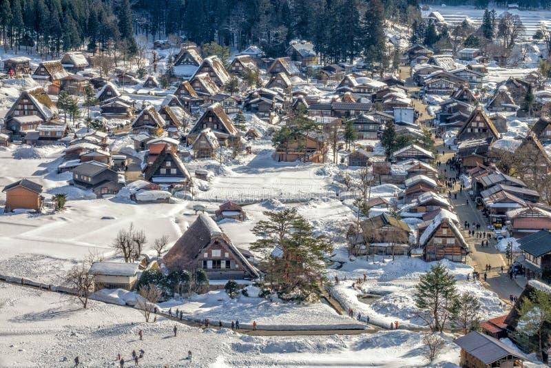 Shirakawa-go UNESCO national heritage village stock image