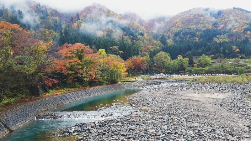 Shirakawa-go view stock photos