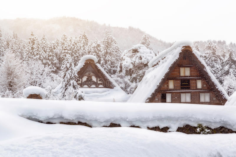 Shirakawa go village in japan royalty free stock photography