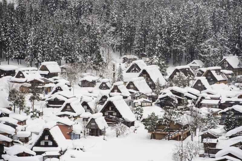 Shirakawa-go in winter stock image