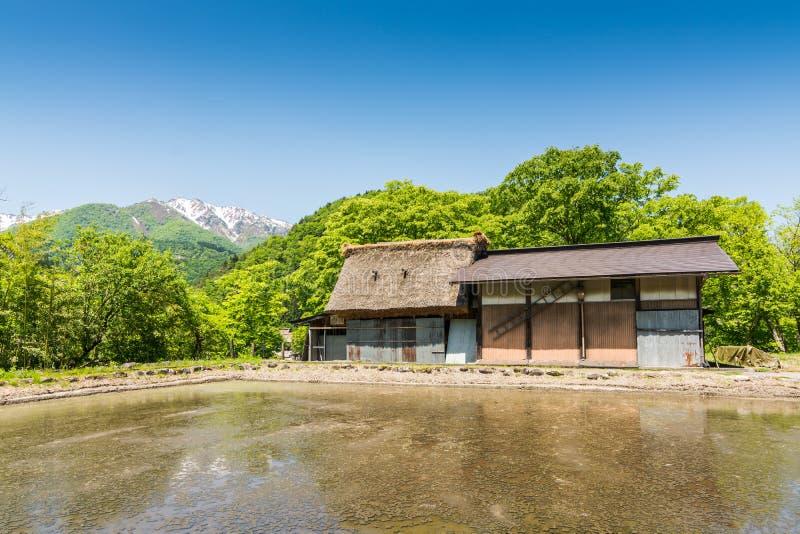 Shirakawa-knock-out dorp stock foto's