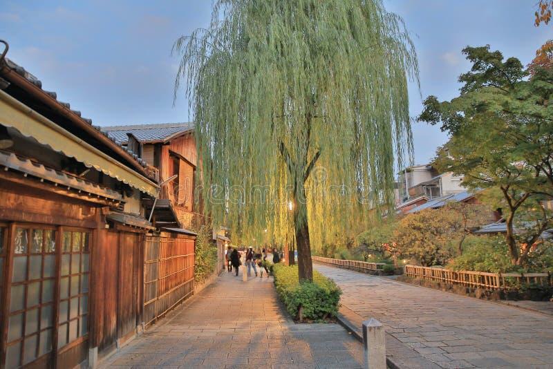 Shirakawa-minami Dori à Kyoto, Japon photographie stock