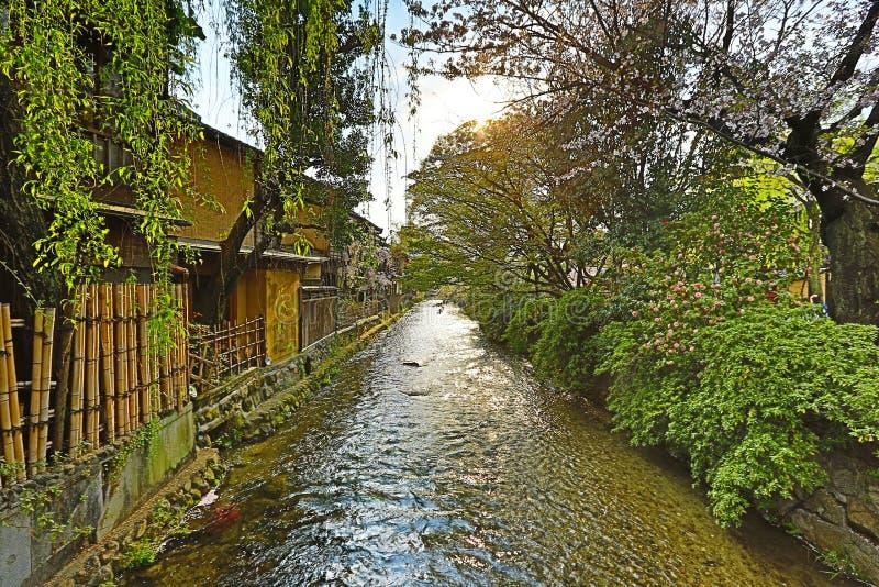 Shirakawa-Minami Dori in Kyoto, Japan royalty-vrije stock fotografie