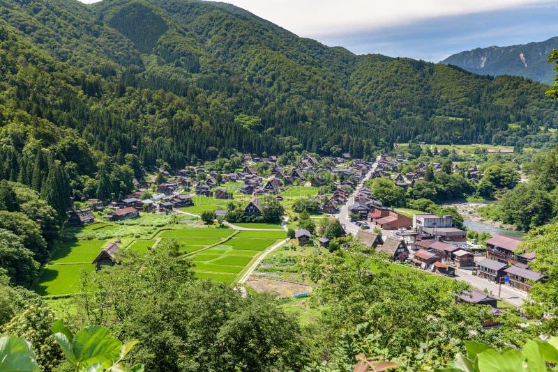 Shirakawa or Shirakawa-go, A Small traditional Historic villages in summer Season. Gifu, Japan stock photography