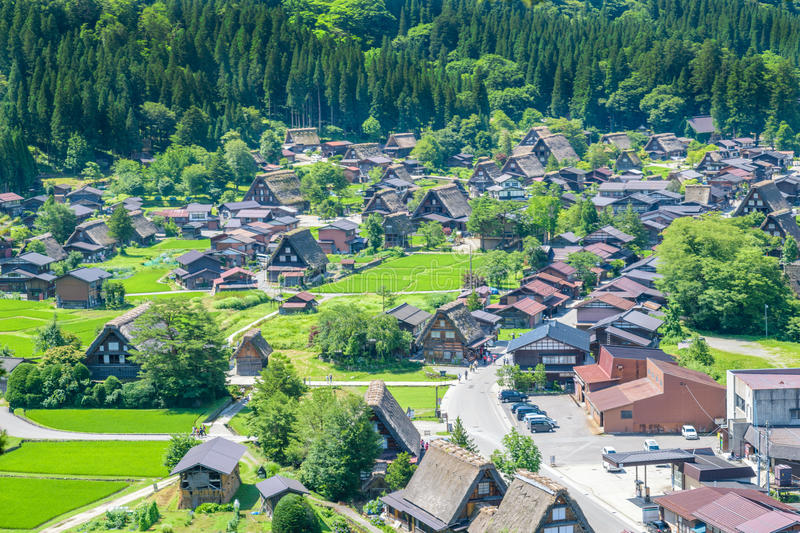 Shirakawa or Shirakawa-go, A Small traditional Historic villages in summer Season, Japan royalty free stock images
