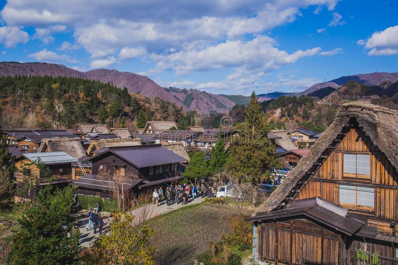 Shirakawa va immagine stock