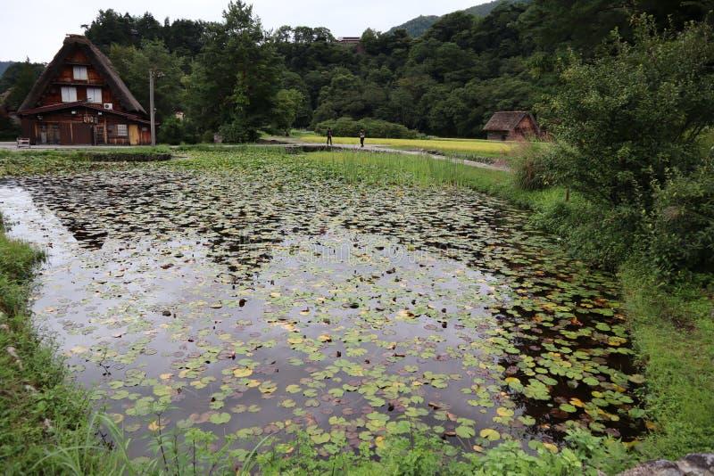 Shirakawa-va il posto di eredità A come non altro fotografia stock