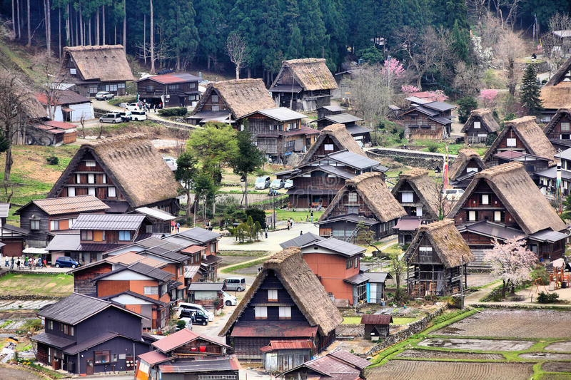 Shirakawa-va, Japón fotos de archivo