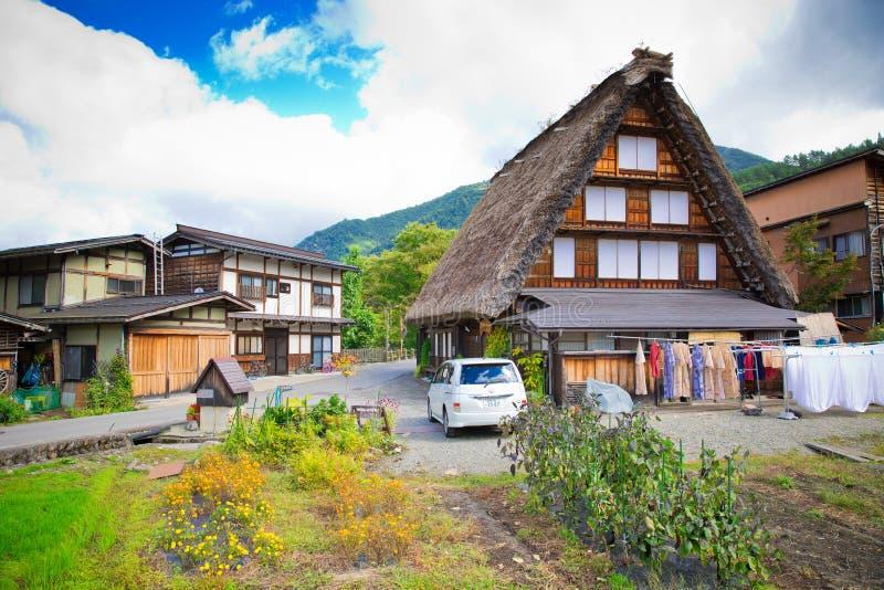 Shirakawa-vada del Giappone fotografia stock libera da diritti