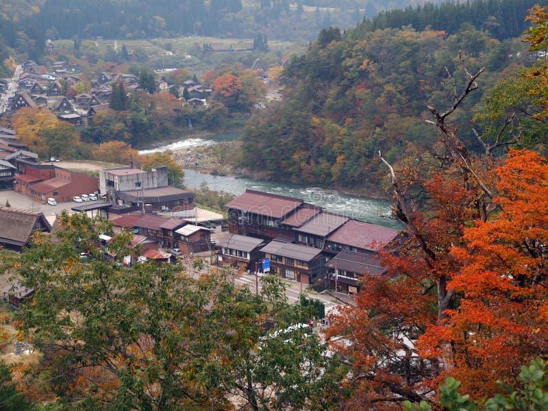 Shirakawa-vai, Gifu, Japão fotografia de stock