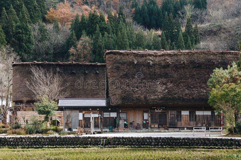 Shirakawa wioska w późny listopad jesieni zima sezon obraz stock