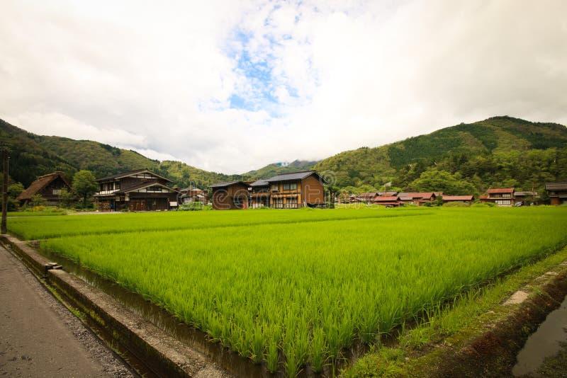Shirakawago-Dorf stockbilder