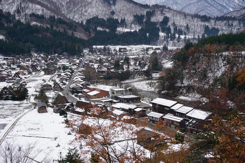 Shirakawago Village , one of UNESCO`s Word Heritage Sites. It is located in Gifu Prefecture,Japan stock images