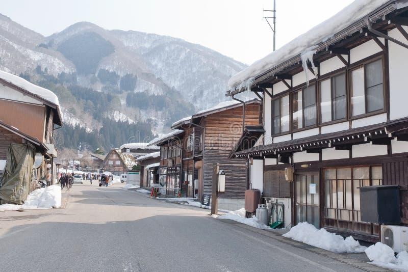 Shirakawago, pueblo histórico del invierno de Japón fotos de archivo libres de regalías