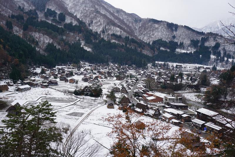 Shirakawago Village , one of UNESCO`s Word Heritage Sites. It is located in Gifu Prefecture,Japan royalty free stock photo