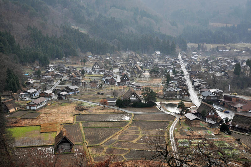 Shirakawago village royalty free stock images