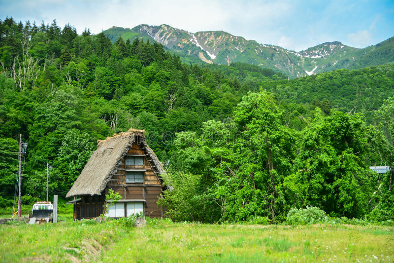 Shirakawahuis stock afbeeldingen