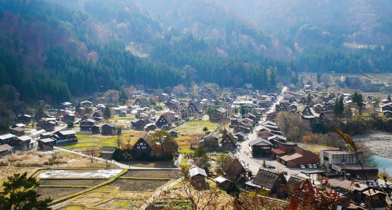 Shirakawako-Dorfreise in Japan lizenzfreie stockfotografie