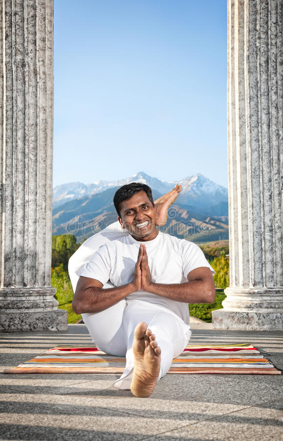 Shirasana di pada di eka di yoga immagini stock libere da diritti