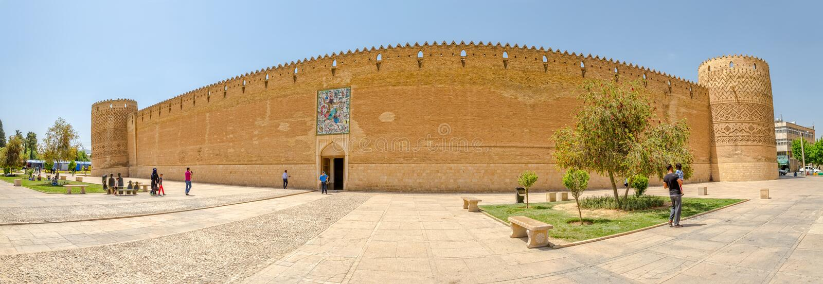 Shiraz Arg of Karim Khan panorama royalty free stock photo