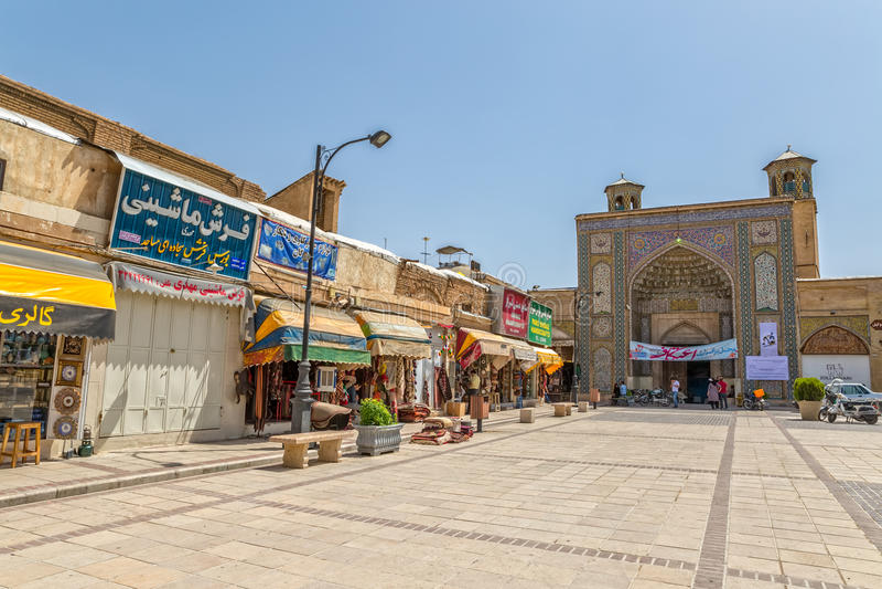 Shiraz fyrkantVakil moské arkivfoto
