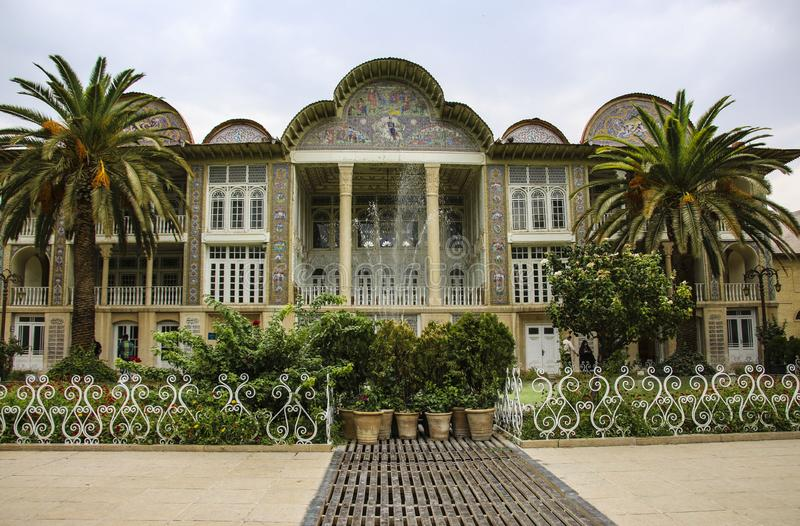 SHIRAZ, IRAN - SEPTEMBER 18,2018: Qavam House and Eram Garden is stock photography