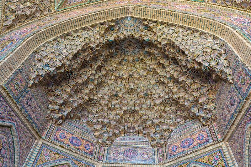 Shiraz Mosque Cells av himmel royaltyfria bilder