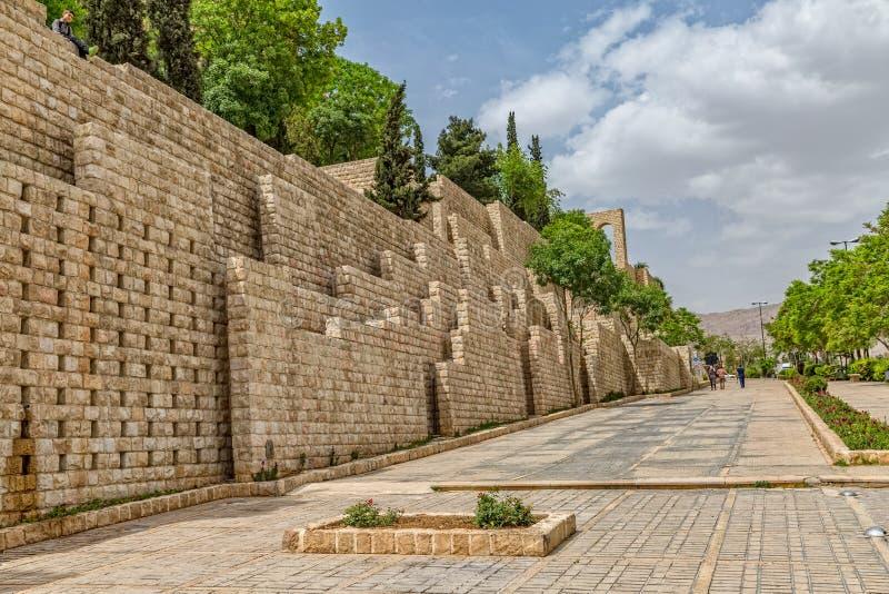 Shiraz norr vägg arkivbild