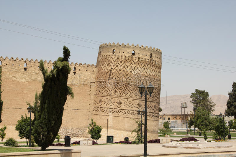 Shiraz old castle, Iran royalty free stock photography