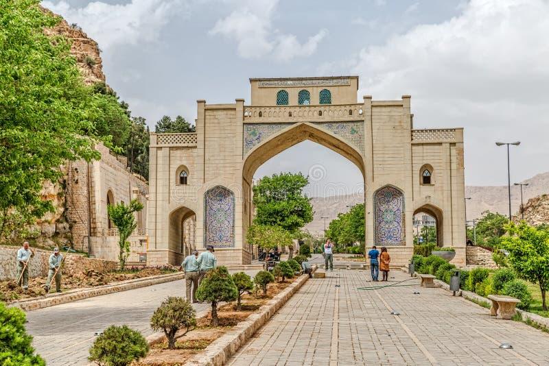 Shiraz Quran Gateway royaltyfri foto