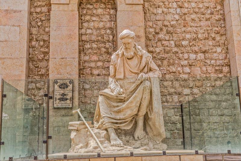Shiraz Statue av Khwaju Kermani arkivbild