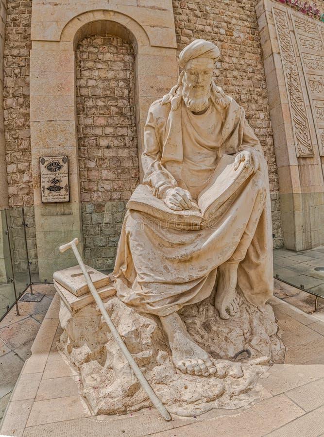 Shiraz Statue av Khwaju Kermani royaltyfria foton