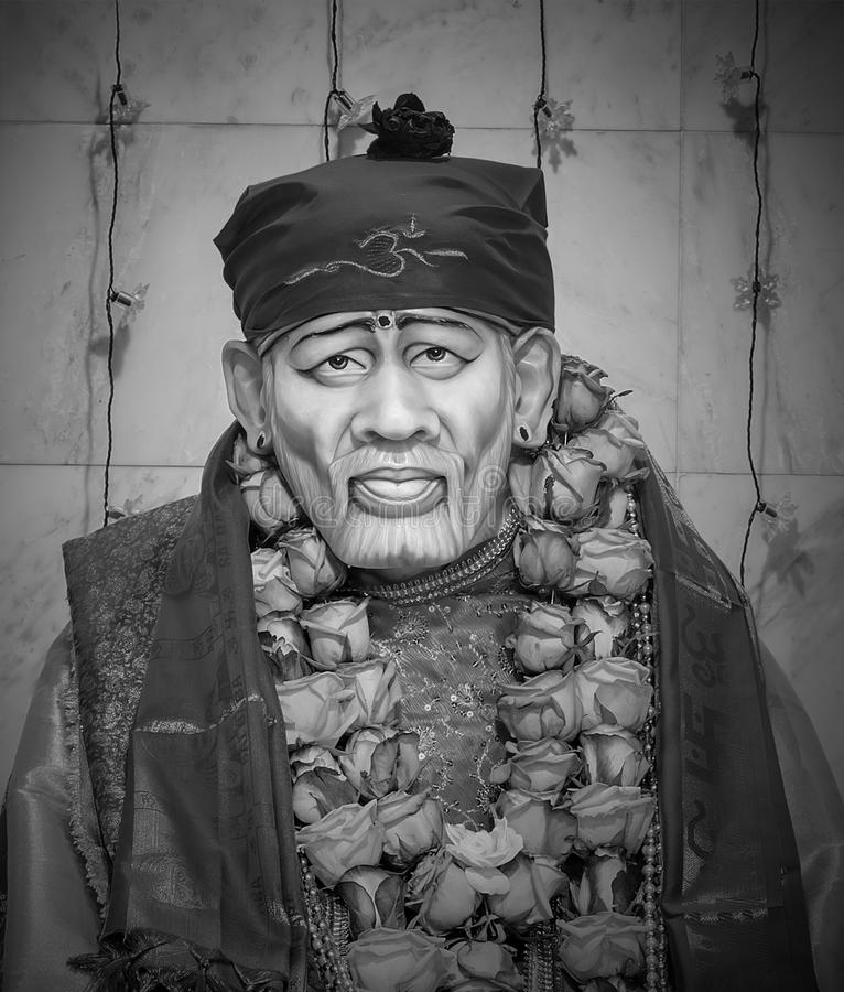Shirdi Sai Baba. Hindu god Sai Baba of Shirdi was an Indian spiritual master who was and is regarded by his devotees as a saint, fakir, and sat guru royalty free stock photos