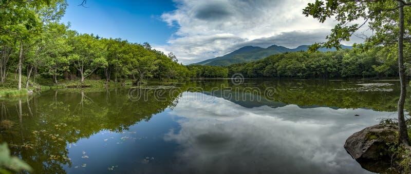 Shiretoko五个湖,北海道,日本 库存照片