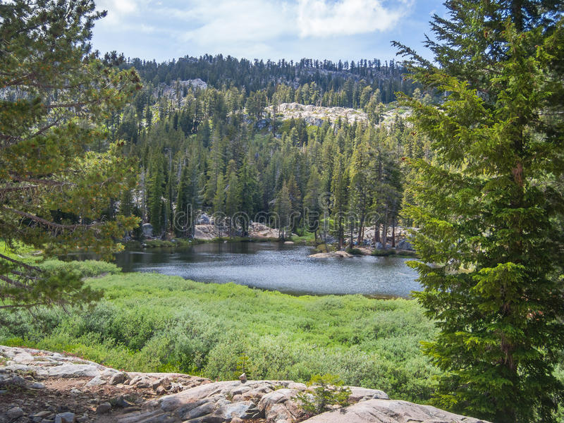 Shirley Lake Kalifornien royaltyfria foton