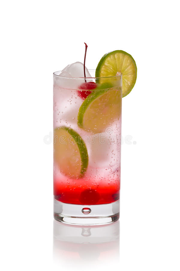 Shirley Temple Cocktail Drink stock image