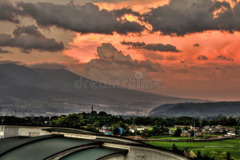 Shiromizu Yaehara jest podmiejskim sąsiedztwem Ueda, Nara prefektura fotografia royalty free