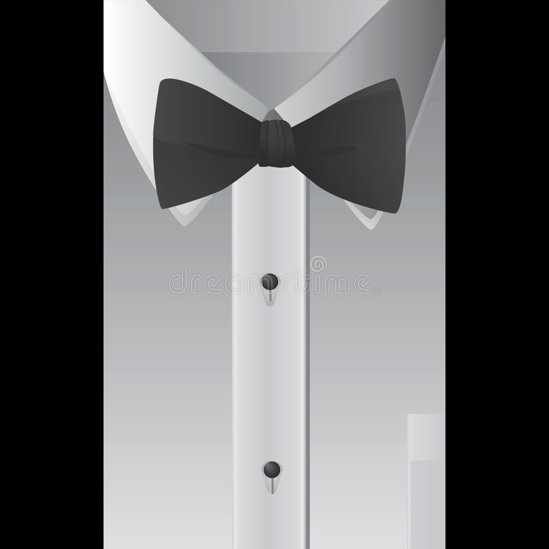 Shirt and bowtie vector vector illustration