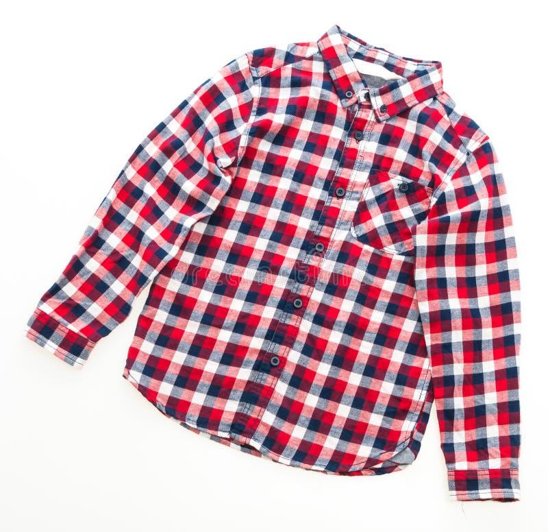Shirt for clothing. Men Shirt fashion for clothing isolated on white background royalty free stock photos